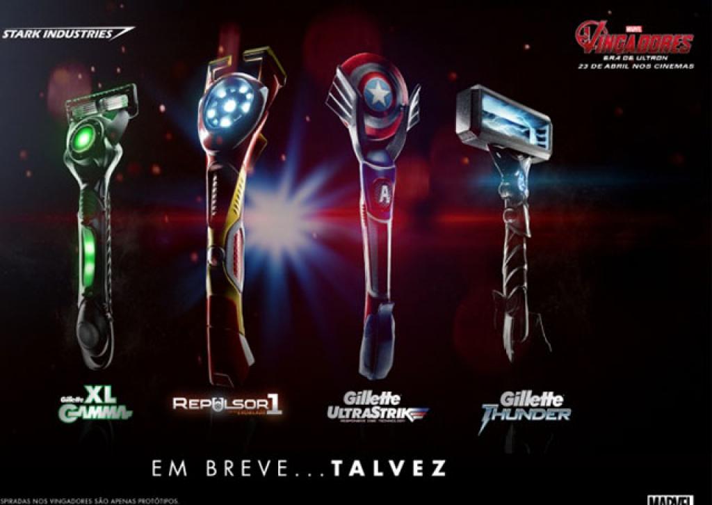 """Gillette se une com Marvel e lança produtos """"desenvolvidos"""" por Tony Stark"""