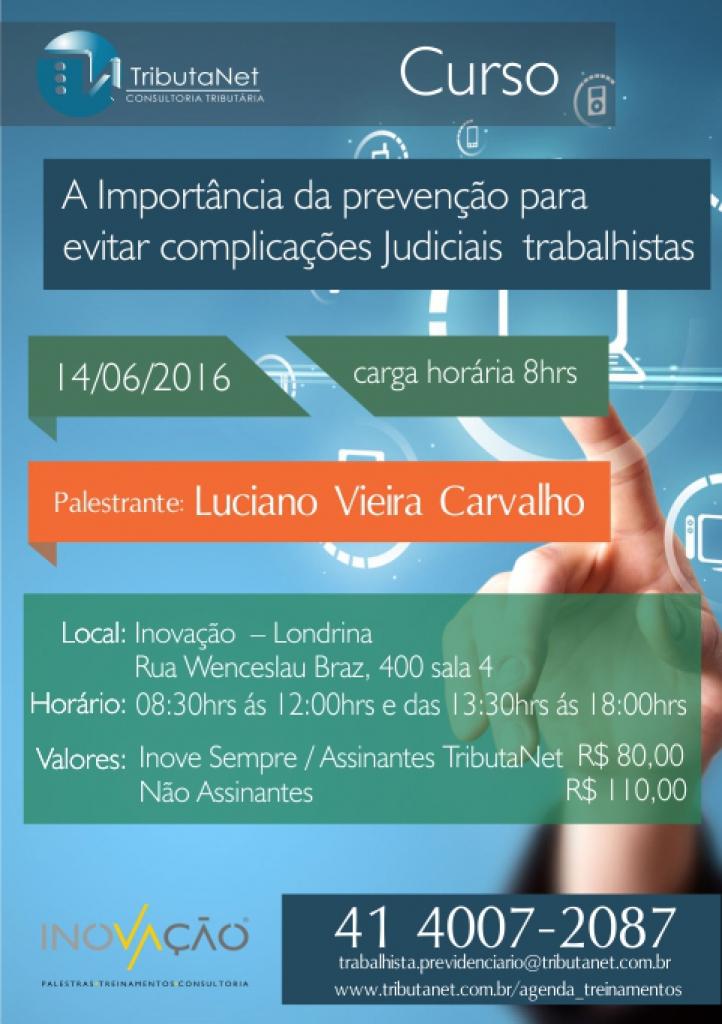CURSO: A Importância da Prevenção para Evitar Complicações Judiciais Trabalhistas