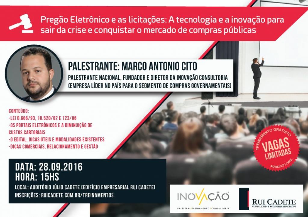 Inovação fará palestra sobre pregão eletrônico para empresas de NATAL - RN