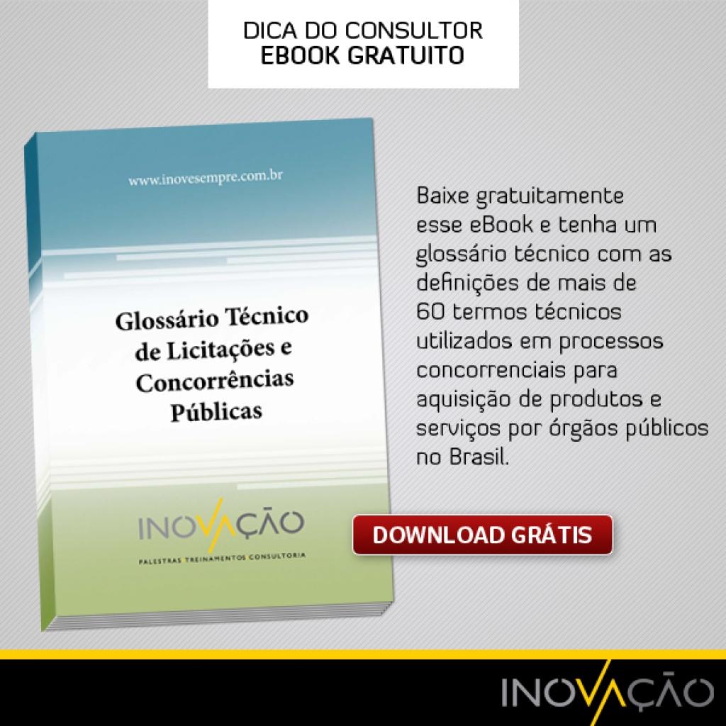 eBook Grátis: Glossário Técnico de Licitações e Concorrências Públicas