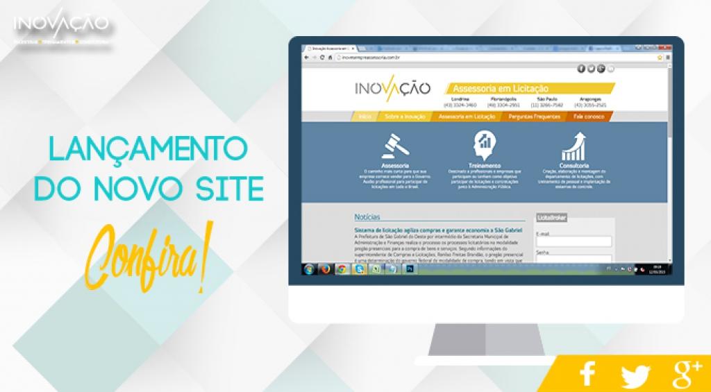 Novo site exclusivo para assessoria em licitação